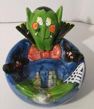 Halloween Dracula Vampire Ceramic Candy Dish Midwestern Home