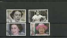 SOUTH GEORGIA SG417-420 QUEENS 80TH BIRTHDAY SET CTO USED