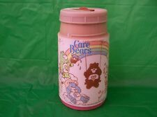 1985 CARE BEARS American Greetings Thermos Bottle Pink by Aladdin FREE SHIPPING