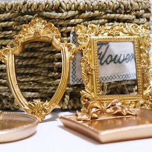 Golden Retro Photo Frame Nail Art Display Frame Nail Art Retro Photo PropsHCA
