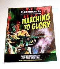 MARCHING TO GLORY - COMMANDO 6 BEST U.K. WAR COMICS  400 pg Free Shipping