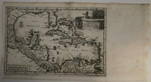 WEST INDIES FLORIDA (UNITED STATES) MEXICO CARIIBEAN 1706 VAN DER AA ANTIQUEMAP