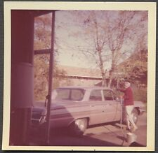 Vintage Car Photo Woman Washing 1962 Buick Automobile 773271
