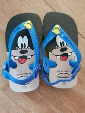 HAVAIANAS GOOFY SIZE 19 BABY TODDLER Shoes Thongs NEW
