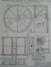 Steam Punk Machinery Incline Steam Hoist Engine Mechanical Diagram Print 1900 #3