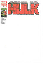 Hulk #50 2012 BLANK VARIANT Great for Sketches 9.6/9.8 NM+ or better RED HULK