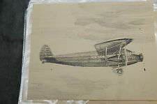"""16 Delta Airlines Plane Sketches of 50th Anniversary Collection 8x10"""""""