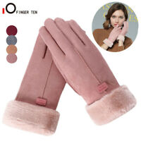 Womens Winter Warm Touchscreen Gloves Thermal Soft Lining Elastic Cuff Texting