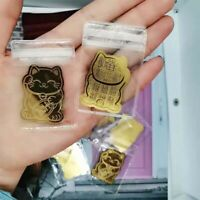 Lucky Cat Fortune Mobile Phone Stickers Gold foil decoration Luck Decal Japanese