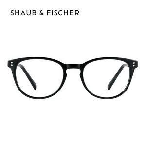 Shaub & Fischer Runde Fernbrille Schwarz Kurzsichtig -0.25 bis -6.00