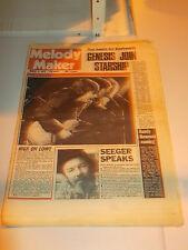 MELODY MAKER 1978 MARCH 4 NICK LOWE GENESIS JEFFERSON STARSHIP PETE SEEGER