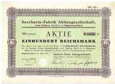 Saccharin Fabrik AG vorm. Fahlberg List 1928 Magdeburg Hexal