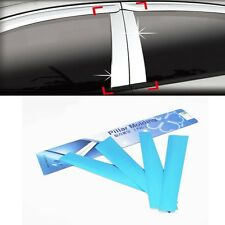 Chrome B Pillar Molding Trim Cover 4Pcs  (Fit: KIA Rio Hatchback 5DR 2011 2014)