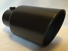 """4"""" INLET x 7"""" OUTLET x 15""""L FLAT BLACK DIESEL EXHAUST TIP FORD, CHEVY, DODGE"""