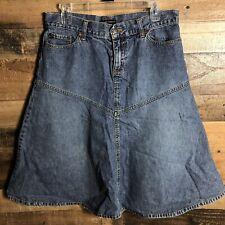 New York & Company Denim Blue Jean Skirt Flare Aline Size Medium10 Modest Casual