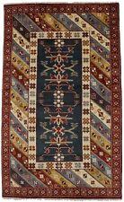 Geometric Tribal Design Kazak 5X8 Hand-Knotted Oriental Area Rug Wool Carpet
