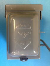 **WADSWORTH** RAINPROOF ENCLOSURE WITH SWITCH, TYPE 3R, R27S, FREE SHIPPING!!