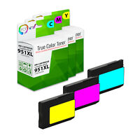 3Pk TCT Compatible 951XL 951 XL HY Cyan Magenta Yellow For HP 8600 8610 8100 Ink
