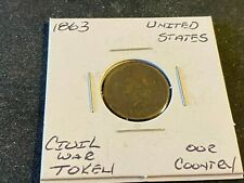 Us Civil War Token 1863 Our Country D84