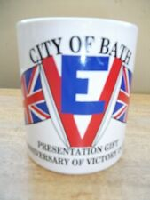 STAFFORDSHIRE MUG BATH VE DAY 50 YEARS COMMEMORATION 1995