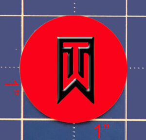 "Tiger Woods 1"" steel Golf Ball Marker"