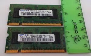 2 GB (2x 1 GB) Samsung 2RX16 PC2-6400S-666-12-A3 200 Pins SODIMM DDR2 Ram Laptop
