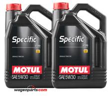 Aceite Motul Specific 0720 5W30 Renault motor Filtro Partículas FAP, pack 10 Lts