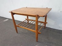 Mid Century Modern Danish Style Accent End Side Table MCM Midcentury Coffee Tier