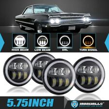 New Listingfor 1966 1974 Vintage Dodge 4x 575 Dot Projector Led Headlights Drl Angel Eyes Fits 1972 Charger