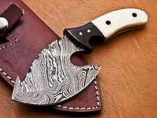 Rody Stan CUSTOM HAND MADE DAMASCUS FULL TANG KNIFE - CAMEL BONE - R-7279