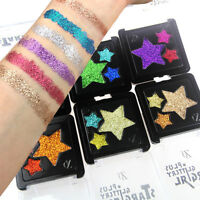 6Color Shimmer Glitter Eye Shadow Powder Palette Matte Eyeshadow Cosmetic Makeup