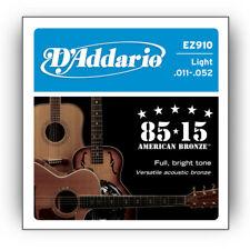 D'Addario Ez910 Bronce Guitarra Acústica Cuerdas 11-52. Brillantes Sonido Tono