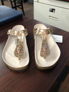 Birkenstock Womens Rose Gold Gizeh Thong Sandals Size 39 (8.5)