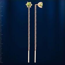 Russische Rose Rotgold 585 Durchzieher Ohrringe mit Peridot 4mm Neu Schön💖💖💖