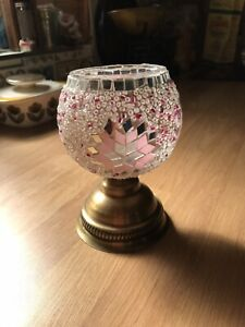 Small Moroccan Mosaic Glass/bead Tealight Holder/ornament  New