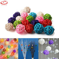 20pcs 3cm Rattan Ball Christmas Home Ornament Birthday Party Wedding Decoration
