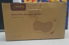 Naipo Shiatsu Neck Back Massage Pillow with Heat Deep Tissue MGP-129A FREE SHIP