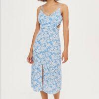 Free People OB559990 Sweet Lucy Slip Dress in Light Cornflower Blue