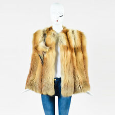 VINTAGE Beige Brown & Tan Fox Fur Cape