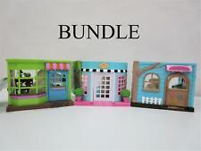 NEW Li'l Woodzeez Flower shop Ice Cream Shop & Nursery Bundle Ages 3+ RRP$90