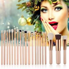 Pop 20Pc Makeup Foundation Powder Eyeshadow Lip Eyeliner Brushes Set Tool New OC