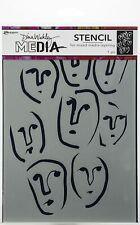 "Ranger Dina Wakley Media Stencils 9""X6""-Circle Faces"
