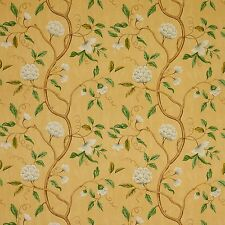 COLEFAX & FOWLER CHINOISERIE JAPANESE FLORAL SNOW TREE FABRIC 10 YARDS GOLD