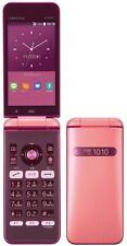 KYOCERA GRATINA 4G KYF37 UNLOCKED KEITAI ANDROID JAPAN FLIP PHONE PINK