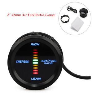 "2"" 52mm Air Fuel Ratio Gauge Narrowband Digital Pointer LED Monitor Racing Black"