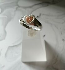 925 Silver Vermeil Heart  Ring size N UK - 7 USA - 54 EUR