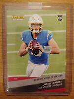 JUSTIN HERBERT RC 2020 Panini Instant /1352 ROOKIE #268 Offensive Rookie of Year