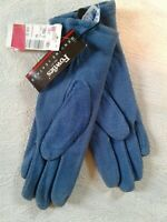 NWT Vintage Fownes Blue Suede Leather Gloves Womens Small(cb48)