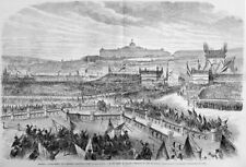 Sisi Sissi, Franz Joseph, Coronation Hill in Budapest, FR.. Giant-Wood Engraving 1867