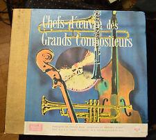 Chefs-d'oeuvre des Grands Compositeurs  Coffret  12 disques 33t  1959